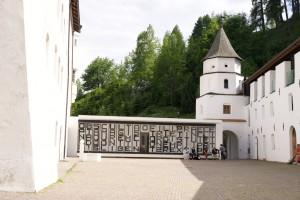 Kloster Marienberg - der Eingang mit dem neuen Speisesaal