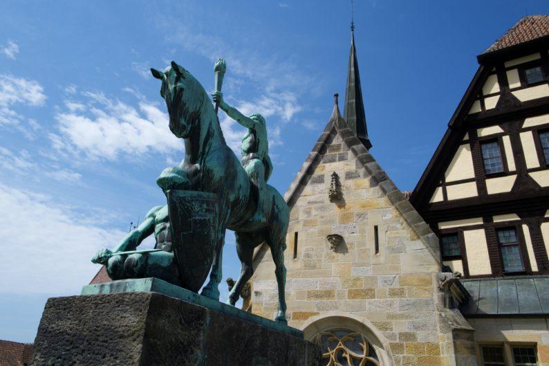 Coburg Veste mit Lichtbringer zu Pferd, Lutherkapelle und Fürstenbau