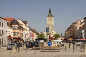 Der Stadtturm des Rathauses stammt aus dem 14.Jahrhundert.