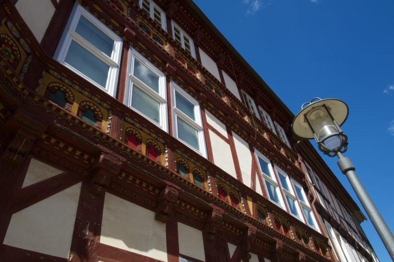 Duderstadt - Detail des Fachwerks