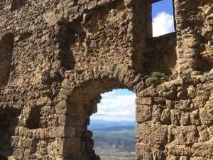 Blick aus der Ruine von Queribus