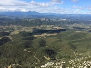 Festung Quéribus - Blick über Okzitanien
