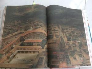 Theaterviertel von Pompeij während des Vulkanausbruchs.