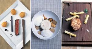 ein Gericht aus der 3-Sterne -Küche von Emmanuel Renault