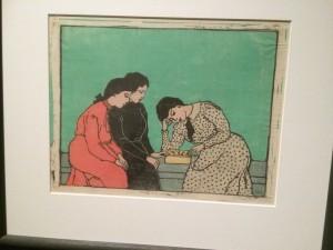 Kunst für alle- Emil Orlik - Drei Mädchen beim Brettspiel 1908