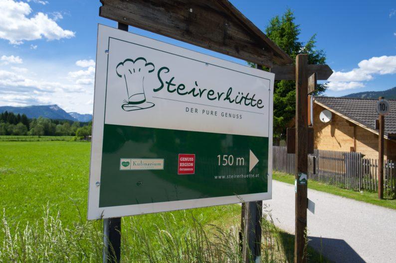 Steirerhütte - Wegweiser
