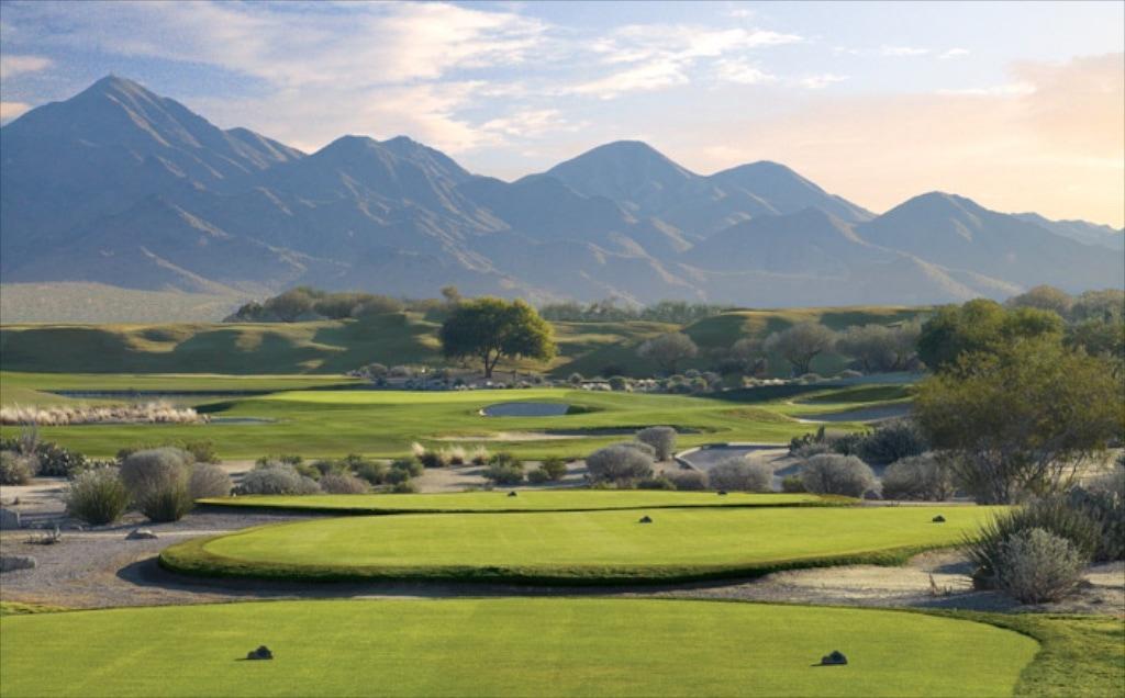 das 17. Loch auf dem neu renovierten Stadium Golfplatz von TPC
