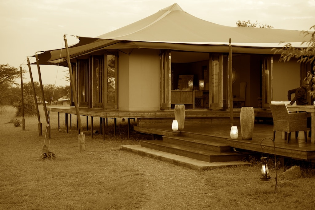 One of the lounges of the Sayari Camp.