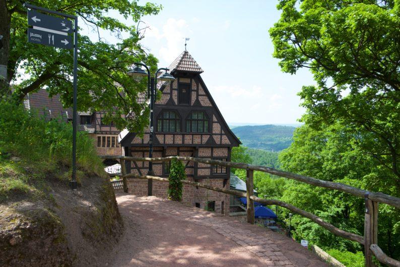 Wartburg - Blick auf das Hotel