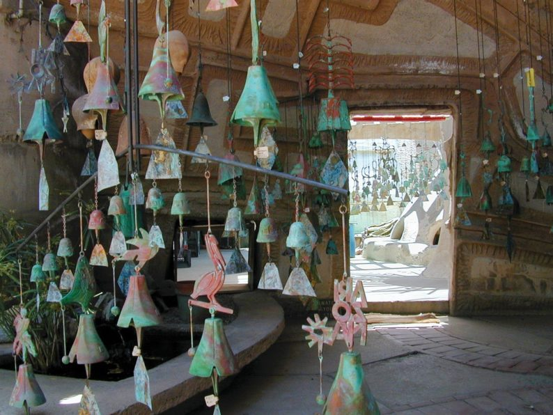 cosanti bells and door