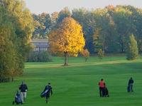 Herbststimmung auf dem Golfclub Rusel
