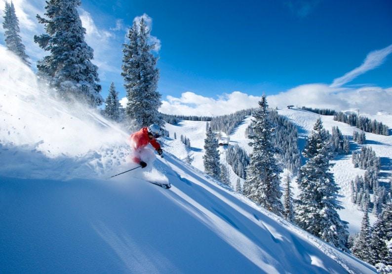 Katrina DeVore skiing on Aspen Mountain, Aspen, Colorado