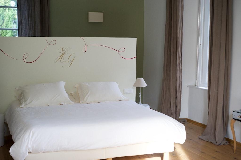 die chicen Zimmer von Château Haut -Gléon.