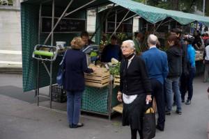 Meraner Markt mit den Ständen von Martin Gamer