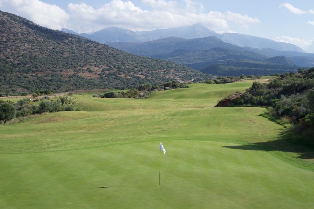 Golfplatz bei Hersonissos- herrlicher Blick in die Berge Kretas