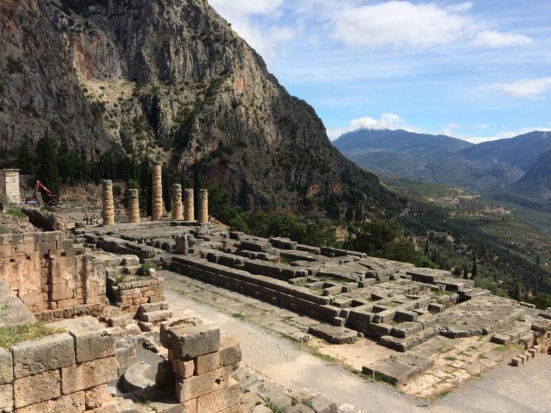 Delphi- Tempel des Apollo
