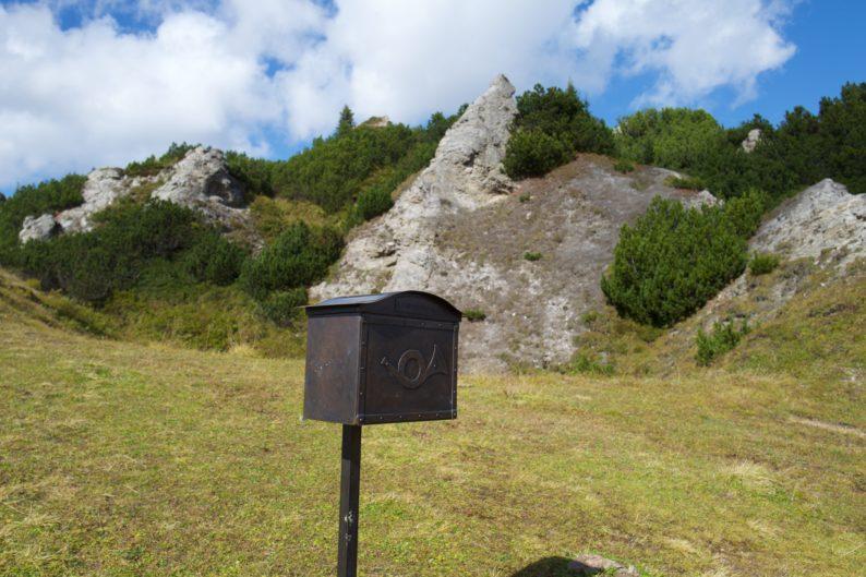 Der grüne Ring - Kriegeralpe - Briefkasten