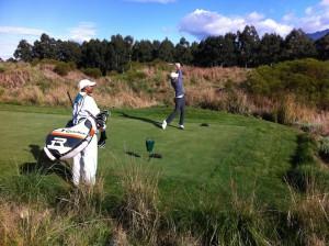 Mit Caddie und Andy auf dem The Links - Golfplatz