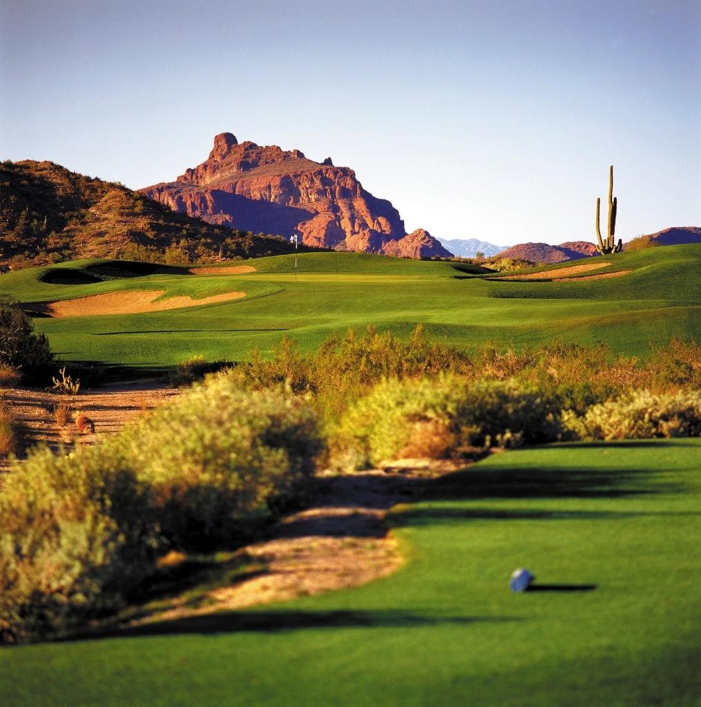 Golfplatz Las Sendas, bei soviel Schönheit darf man das Spielen nicht vergessen.