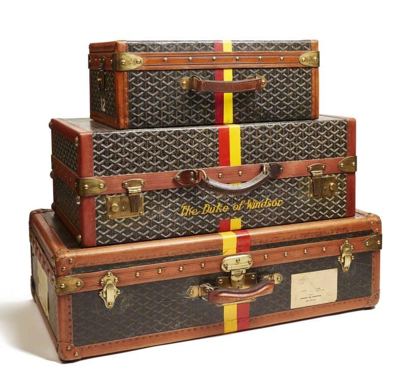 Gepäck von Goyard, das 1853 in Paris gegründet wurde.