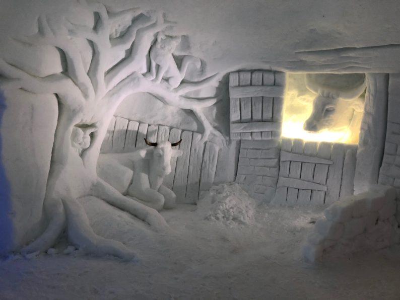 Skiwelt - Alpeniglu - Motiv Rinderstall