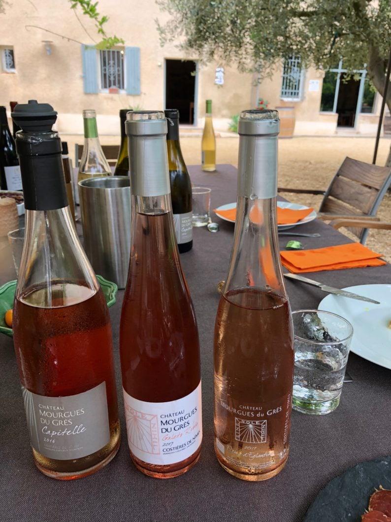 Weingut Mourgues du Gres - Picknick mit drei Rosé