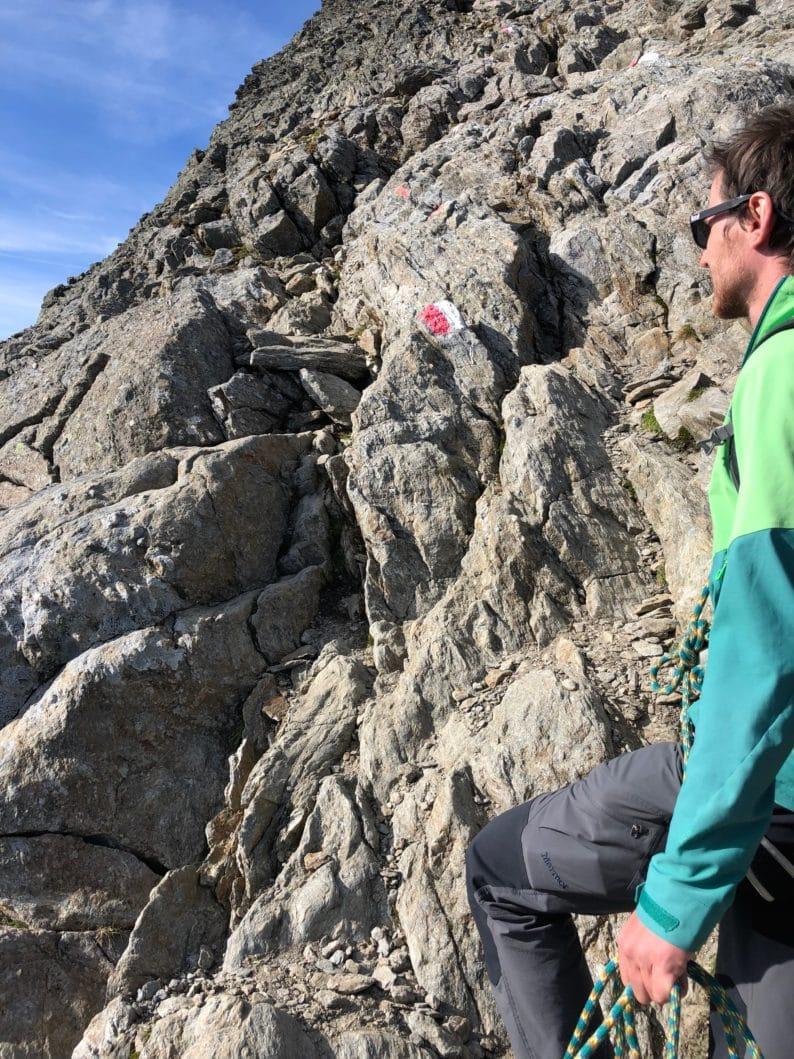 Weg zum Gipfel des Habicht