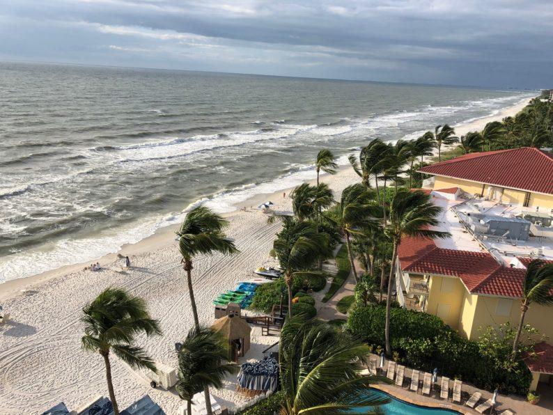 Strand von la Playa mit Sturm