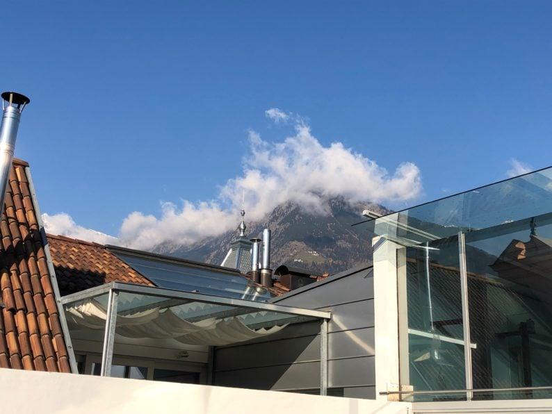 Kunst Meran - auf der Terrasse