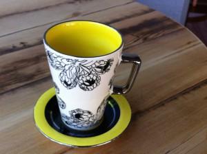 diese aparte Tasse findet man in der Boutique Essentialearth, alle Waren kommen aus Südafrika