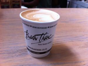 Wer Kaffee liebt, muss in Joburg auch zu Bean There gehen. Der Cappuccino ist grandios.