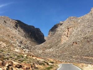 So unwegsam ist die Gegend an der Ostküste von Kreta.