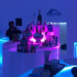 Die Bar in pink im ICE CAMP
