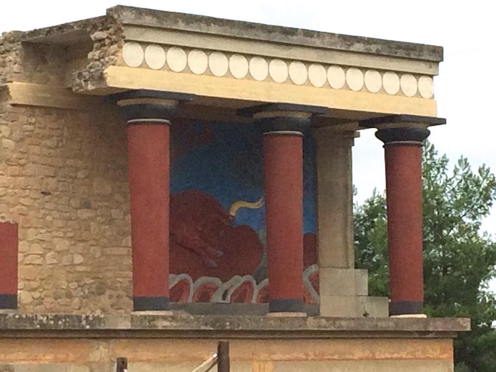 Leider ist die Darstellung des weltberühmten Minotaurus nicht original.