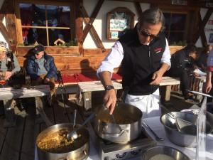 Kochen in der Dezembersonne - Filippo La Mantia auf der Las Vegas Lodge