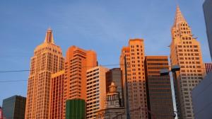 Kulisse von Las Vegas in der Morgensonne