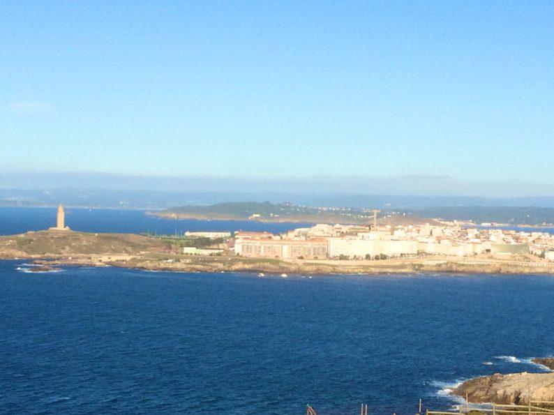 Monte San Pedro - Blick auf La Coruna und Herkulesturm (2)