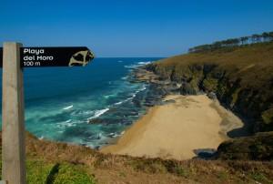 Zum Verlieben schön ist der Strand Playa del Moro  bei Penafurada