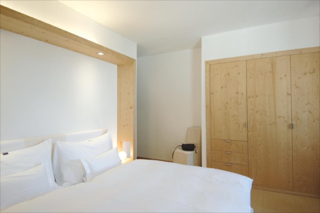 Einer der chicen Zimmer des Hotels Müller