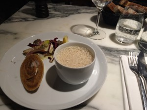 Das ist die Vorspeise im Restaurant Semilla.