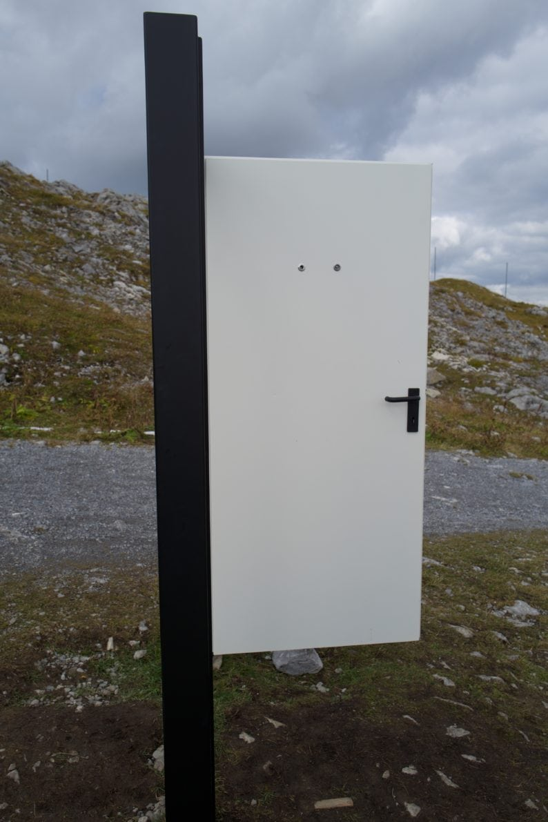 Rüfikopf - Tür von Gottfried Bechtold