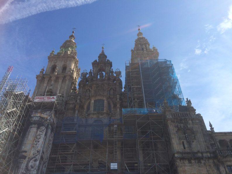 Santiago - Kathedrale im Gegenlicht