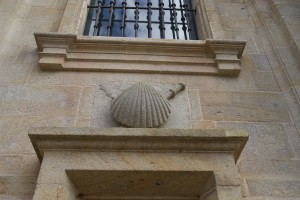 die Jakobsmuschel in Santiago de Compostela