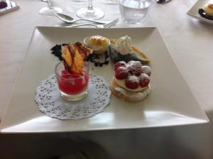 das ist das Dessert im Golfclub Terramar