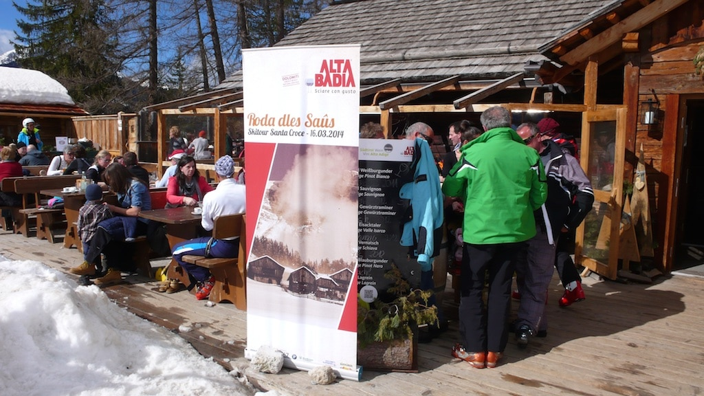 Hier gibt es die ladinische Gerichte für die Roda dles Saûs.