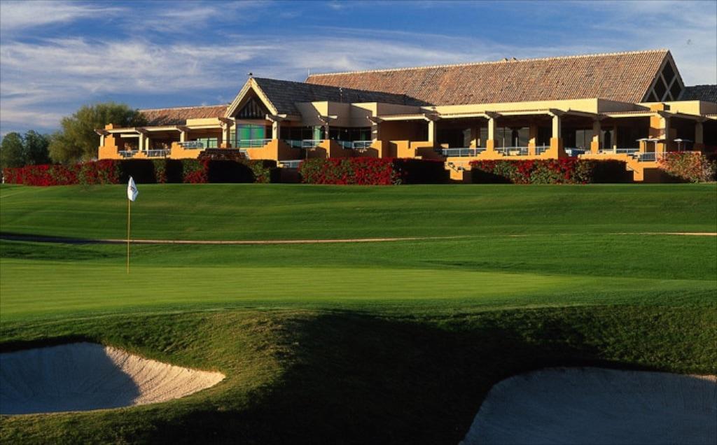 Das neue Klubhaus auf dem Stadium Golfplatz von TPC Scottsdale