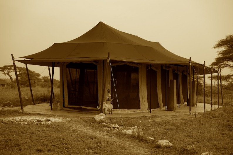 Tanzania - südliche Serengeti - Namiri Plains - Dinnerzelt