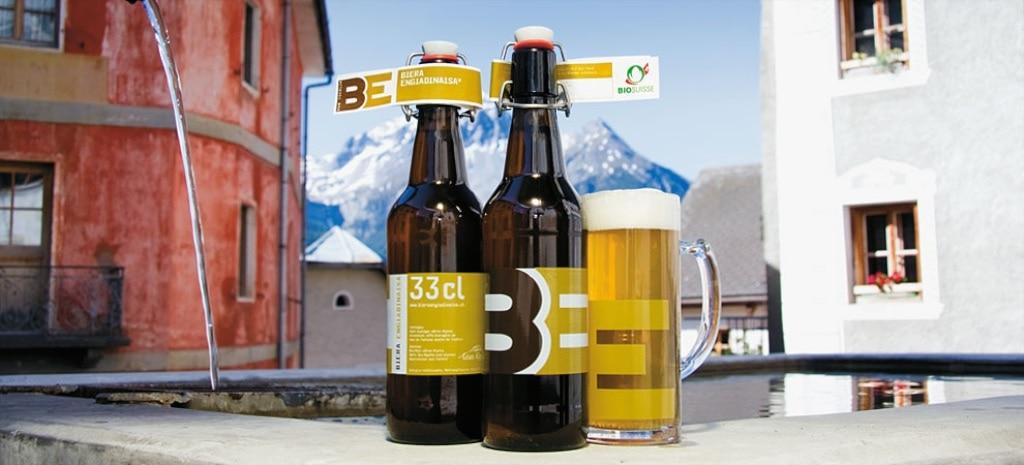 das sind die Biere aus Berggerste, Schweizer Hopfen und Tschliner Wasser.