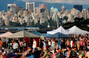 Feiern vor der Kulisse von Vancouver