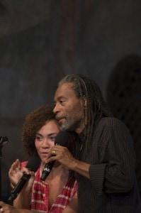 Bobby Mc Ferrin und seine Tochter Madison beim Konzert in der Kirche von Saanen. Foto Raphael Faux.